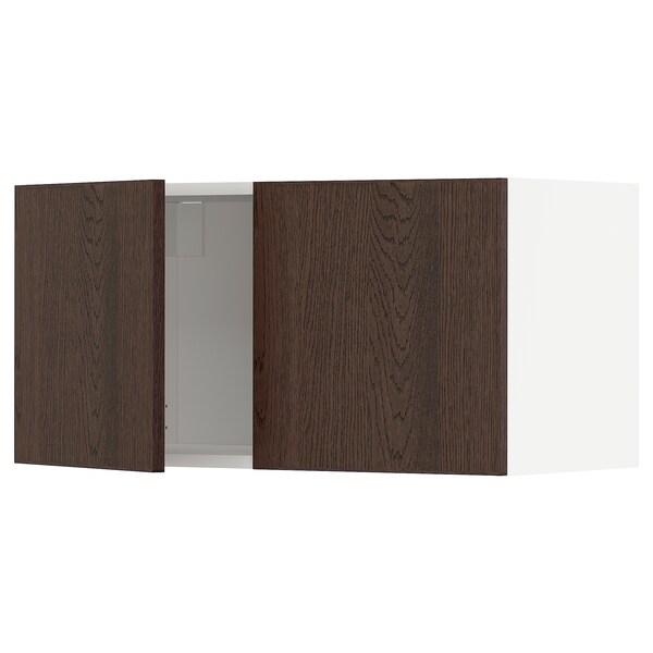 METOD Corp suspendat cu 2 uşi, alb/Sinarp maro, 80x40 cm