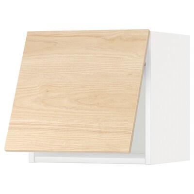 METOD Corp suspendat orizn+deschidere aps, alb/Askersund aspect frasin, 40x40 cm