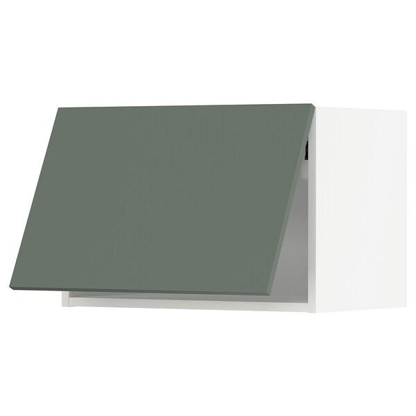 METOD Corp suspendat orizn+deschidere aps, alb/Bodarp gri-verde, 60x40 cm