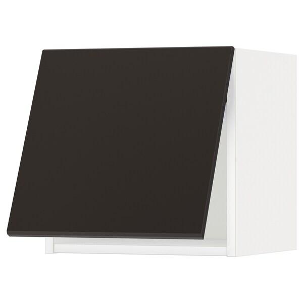 METOD Corp suspendat orizn+deschidere aps, alb/Kungsbacka antracit, 40x40 cm
