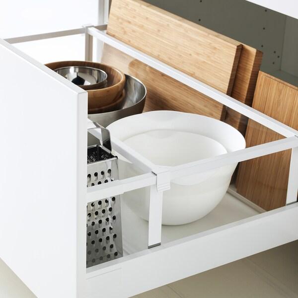 METOD / MAXIMERA Corp bază 2fronturi+2sertare, alb/Veddinge alb, 80x60 cm