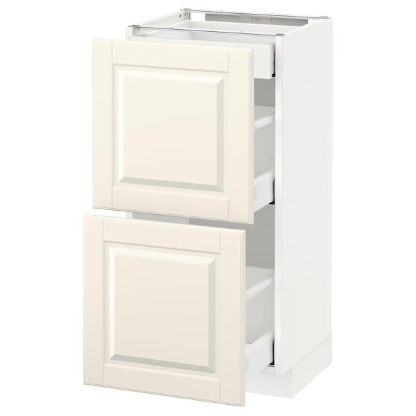 METOD / MAXIMERA Corp bază 2fronturi/3sertare, alb/Bodbyn alb, 40x37 cm