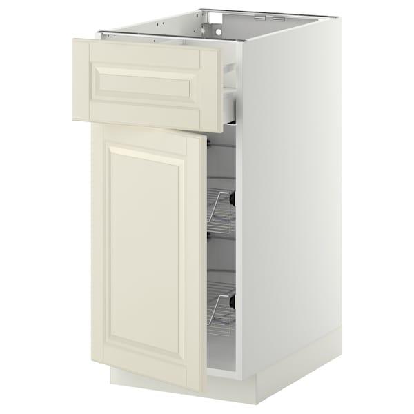 METOD / MAXIMERA Corp bază+coş metalic/sertar/uşă, alb/Bodbyn alb, 40x60 cm