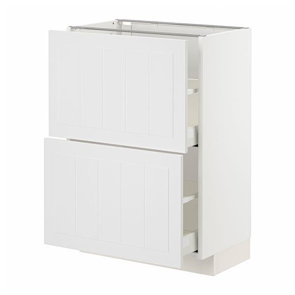 METOD / MAXIMERA Corp bază cu 2 sertare, alb/Stensund alb, 60x37 cm
