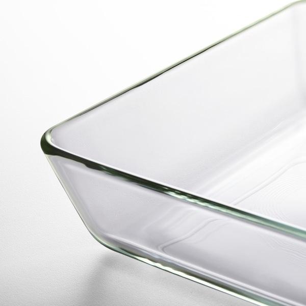 MIXTUR Vas cuptor/servit, sticlă transparentă, 35x25 cm