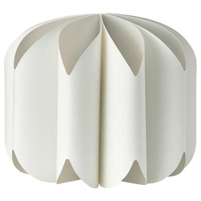 MOJNA Abajur lustră, textil/alb, 47 cm