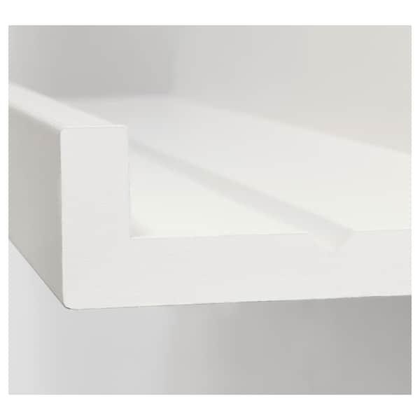 MOSSLANDA Poliţă fotografii, alb, 115 cm