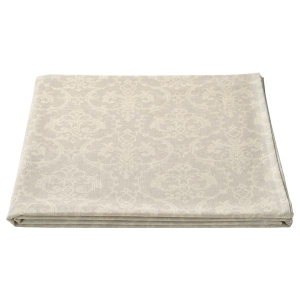 MUSTIGHET faţă de masă cu model/bej/alb 240 cm 145 cm