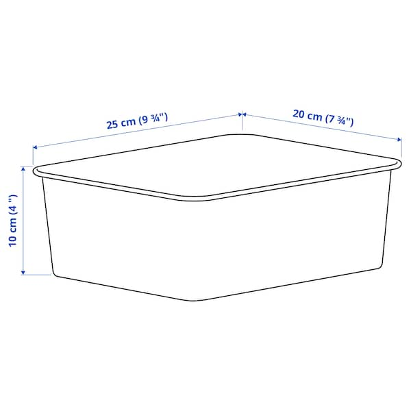 NOJIG Organizator, plastic/bej, 20x25x10 cm