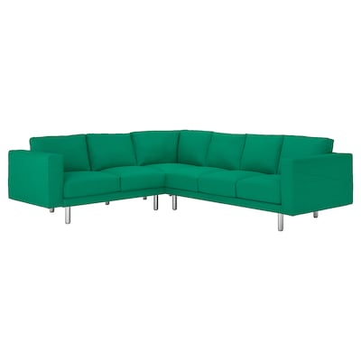 NORSBORG Canapea colț 5 locuri, Edum verde deschis/metal