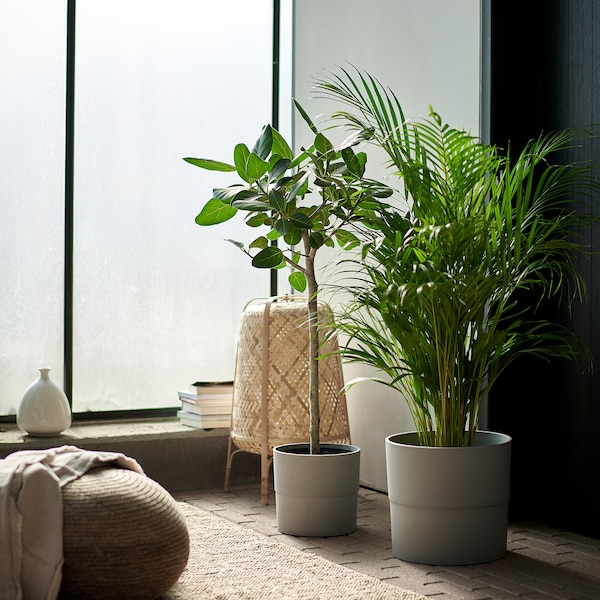 NYPON Ghiveci, interior/exterior gri, 24 cm