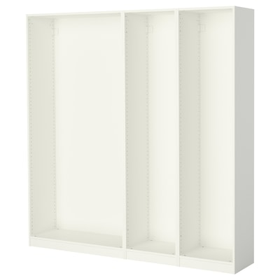 PAX 3 cadre dulap, alb, 200x35x201 cm
