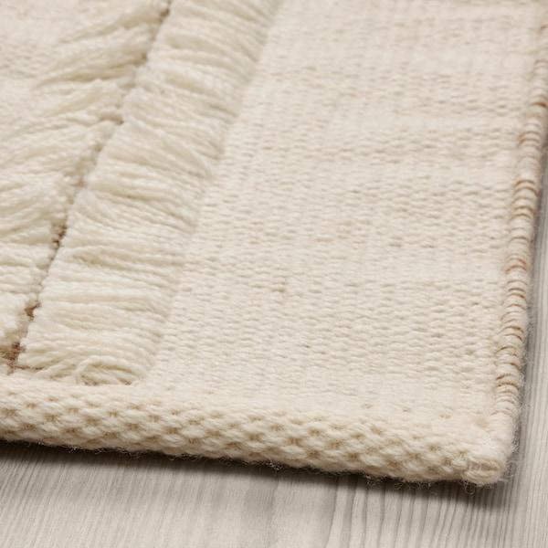 PEDERSBORG Covor, ţesătură plată, natur/alb, 133x195 cm