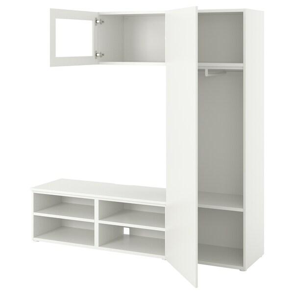 PLATSA Ansamblu depozitare +2 uşi, alb/Fonnes Värd, 180x42x191 cm