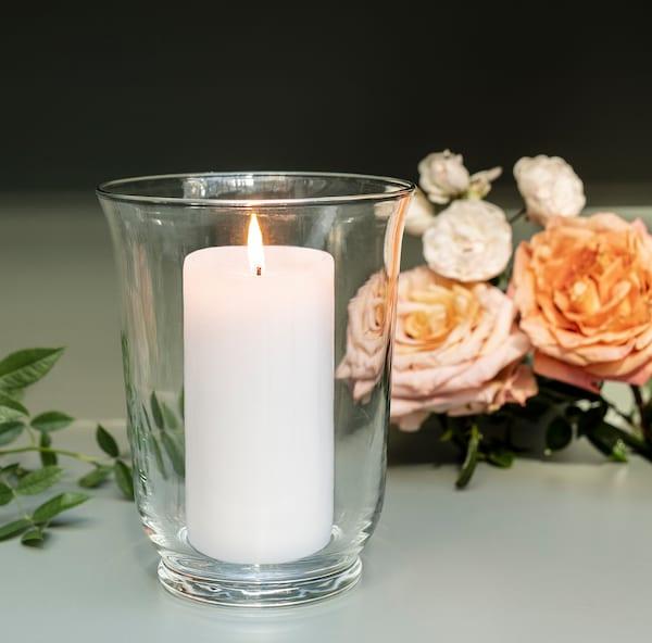 POMP Vază/suport lumânare, sticlă transparentă, 18 cm