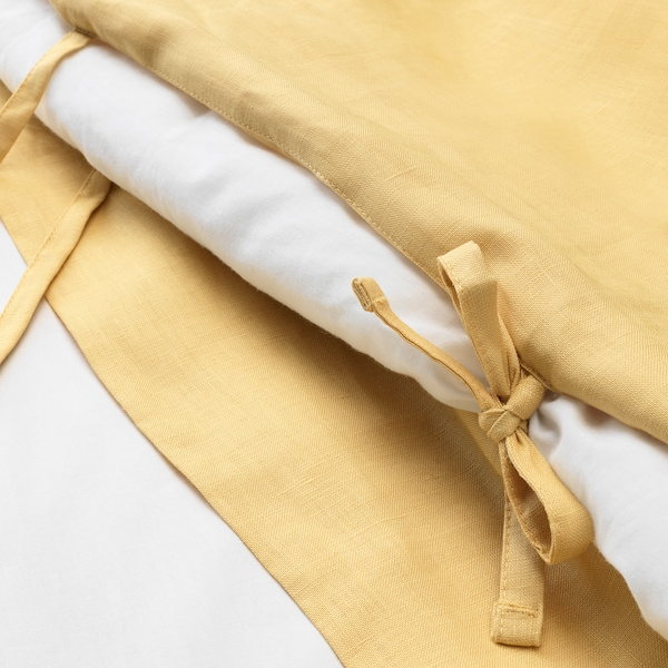 PUDERVIVA Husă pilotă+2 fețe pernă, galben deschis, 200x200/50x60 cm