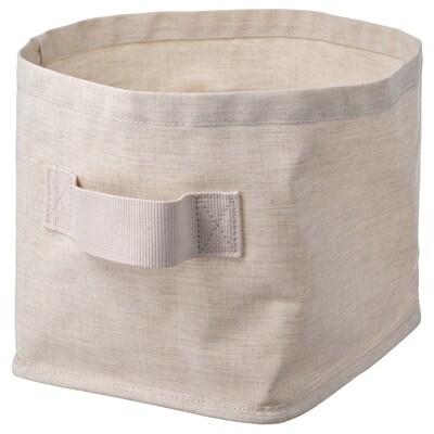 PURRPINGLA Coș depozitare, textil/bej, 25x20x20 cm