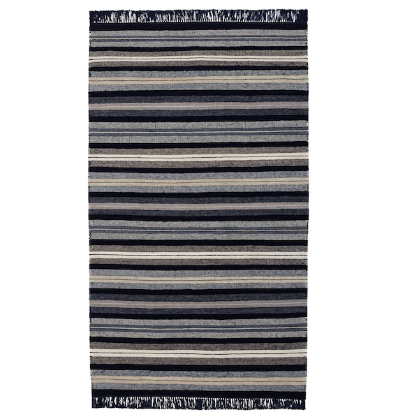 RÅVAROR Covor, ţesătură plată, albastru inchis, 90x155 cm