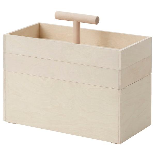 RÅVAROR Cutie depozitare, placaj mesteacăn, 36x18x31 cm