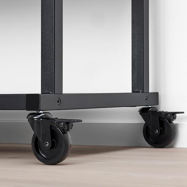 RÅVAROR Unitate depozitare cu rotile, negru, 100x140 cm