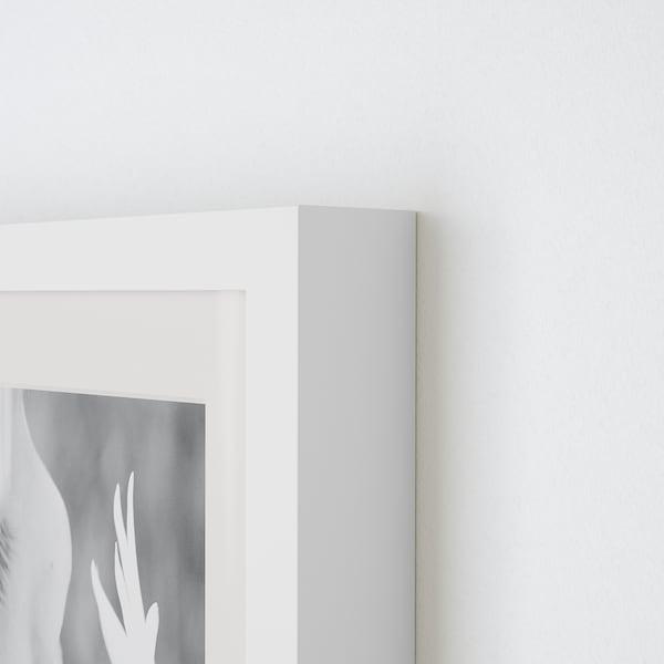 RIBBA Ramă, alb, 10x15 cm