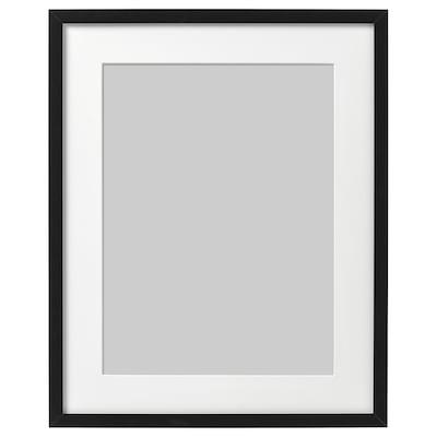 RIBBA Ramă, negru, 40x50 cm