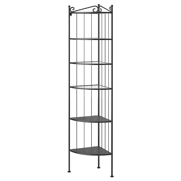 RÖNNSKÄR etajeră colţ negru 37 cm 37 cm 176 cm