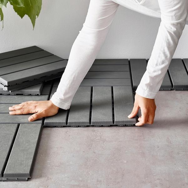 RUNNEN podea de exterior gri 0.81 m² 30 cm 30 cm 2 cm 0.09 m² 9 bucăţi
