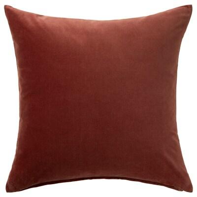 SANELA Faţă pernă, roşu/maro, 50x50 cm