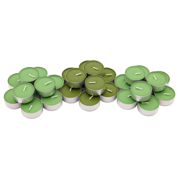 SINNLIG lumânare parfumată pastilă măr/pară/verde 38 mm 4 h 30 bucăţi