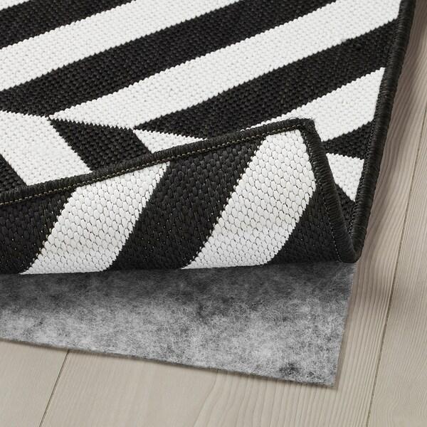 SKARRILD Covor ţesătură plată, int/ext, alb/negru, 160x230 cm