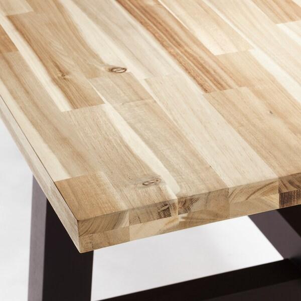 SKOGSTA / NORRARYD Masă+6scaune, acacia/negru, 235x100 cm