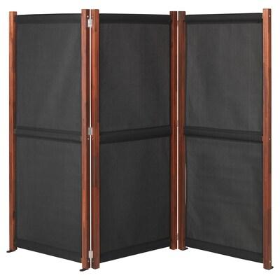 SLÄTTÖ Paravan, exterior, negru/vopsit maro, 211x170 cm