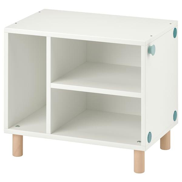 SMUSSLA Noptieră/etajeră, alb