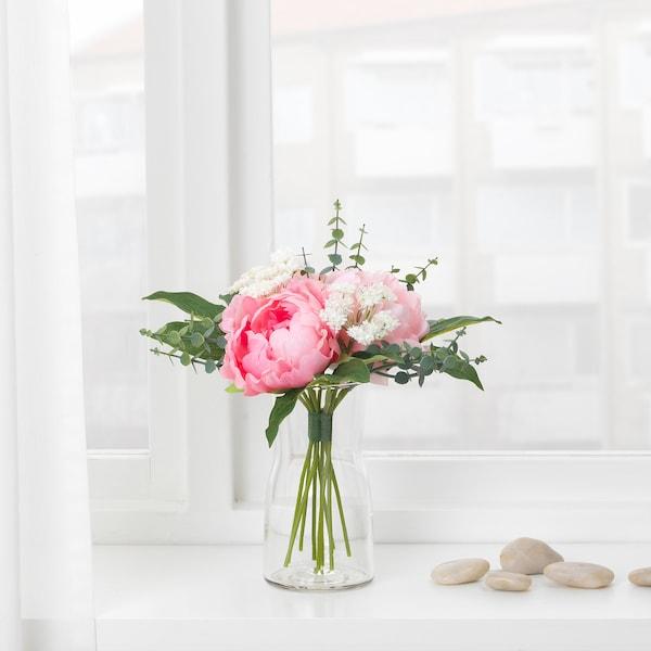 SMYCKA Buchet artificial, roz, 25 cm