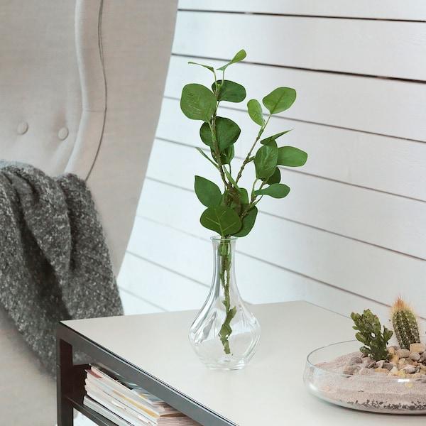 SMYCKA Frunză artificială, eucalipt/verde, 65 cm
