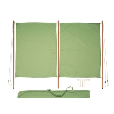 SOLBLEKT paravan vânt/soare verde 194 cm 160 cm 25 mm