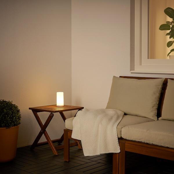 SOLVINDEN Lampă cu baterii, exterior/cu baterii alb