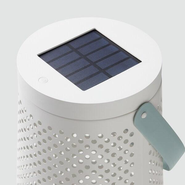 SOLVINDEN Lampadar LED energie solară, conic alb, 45 cm