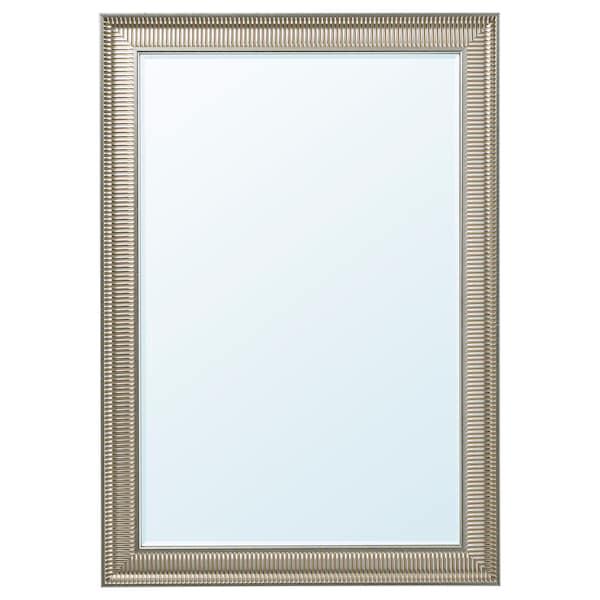 SONGE Oglindă, argintiu, 91x130 cm