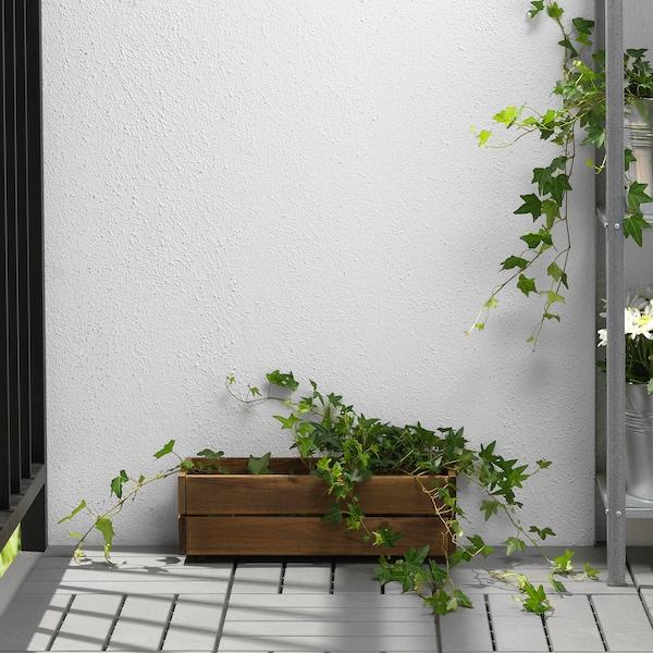 STJÄRNANIS jardinieră exterior acacia 43 cm 15 cm 14 cm