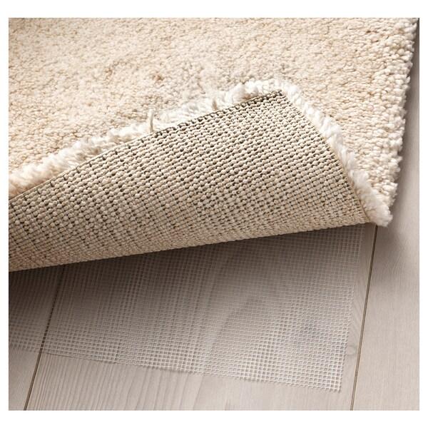STOENSE Covor, fir scurt, alb, 200x300 cm