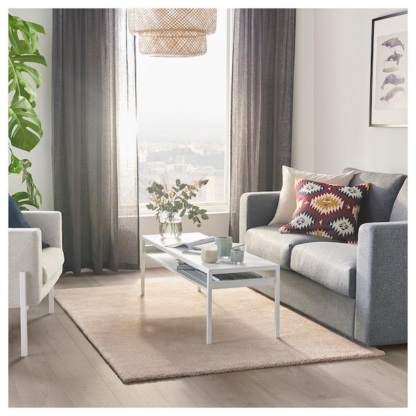 STOENSE Covor, fir scurt, alb, 133x195 cm