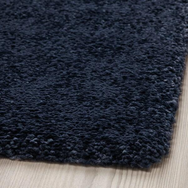 STOENSE Covor, fir scurt, albastru inchis, 133x195 cm