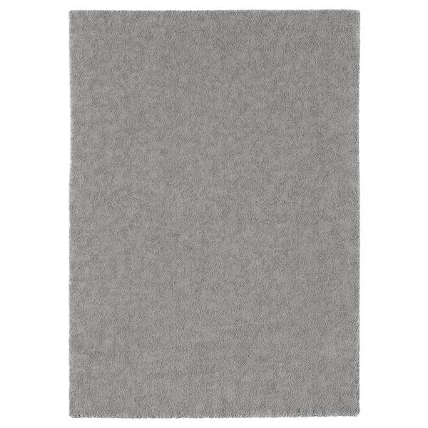STOENSE Covor, fir scurt, gri mediu, 170x240 cm
