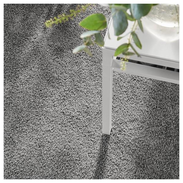STOENSE Covor, fir scurt, gri mediu, 200x300 cm