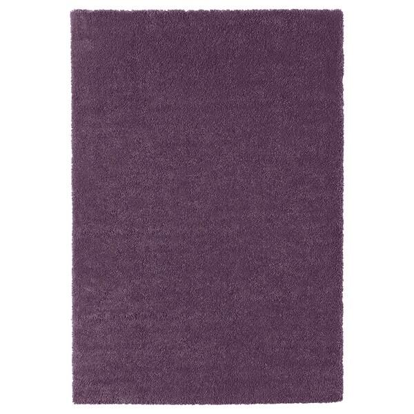 STOENSE Covor, fir scurt, purpuriu, 133x195 cm