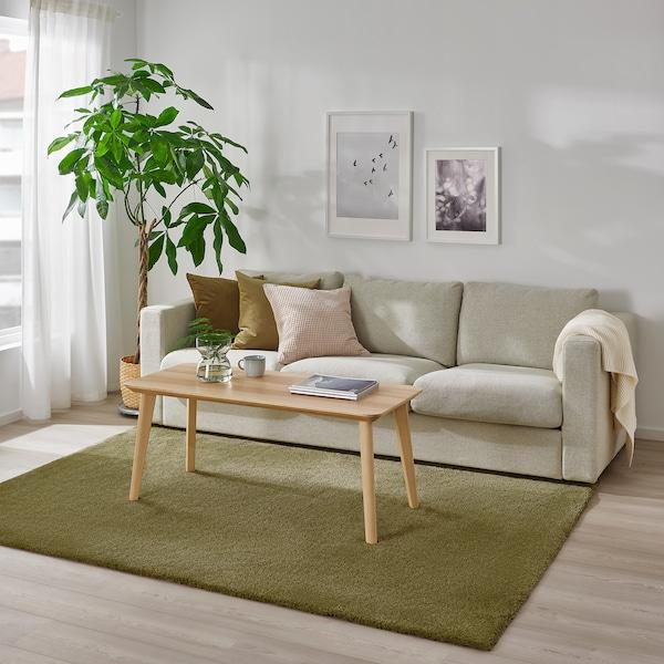 STOENSE Covor, fir scurt, verde deschis, 170x240 cm