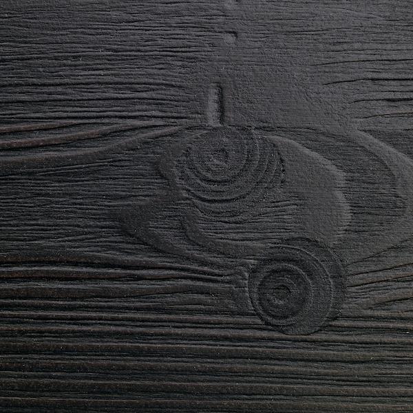 STORÅ Cadru pat supraetajat, negru, 140x200 cm