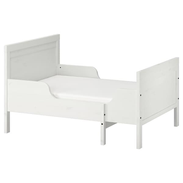 SUNDVIK Cadru pat extensibil+somieră, alb, 80x200 cm